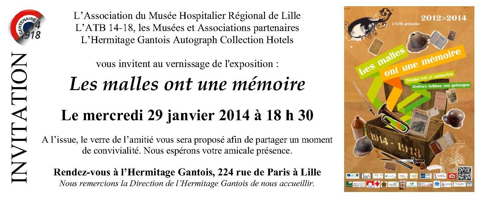 Vernissage expo Les Malles ont une Mémoire 29 janvier