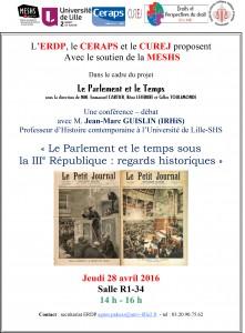 Affiche 28 avril - Parlement 3e République
